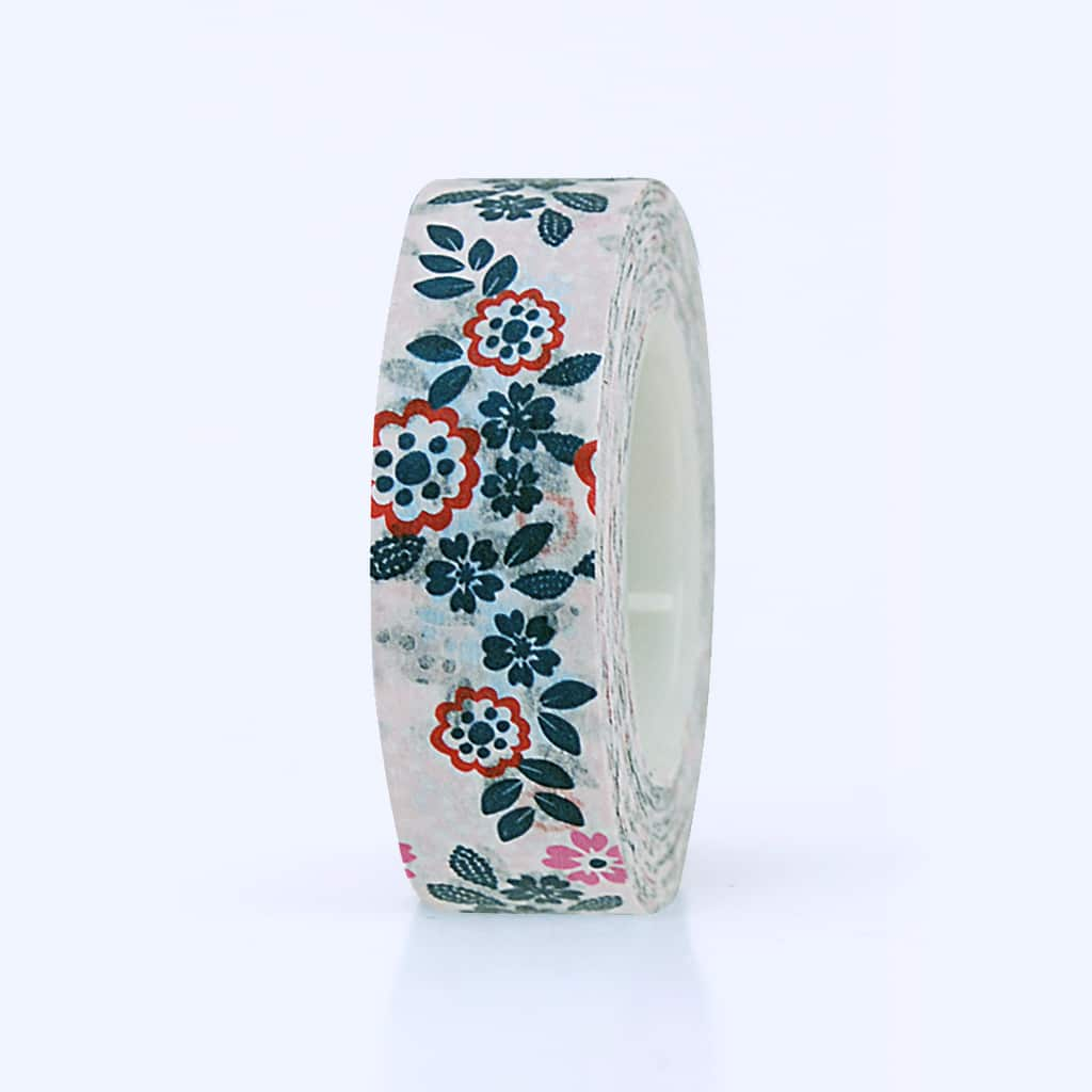washi tape floral rose