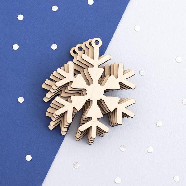 Wooden Snowflake Craft Shape