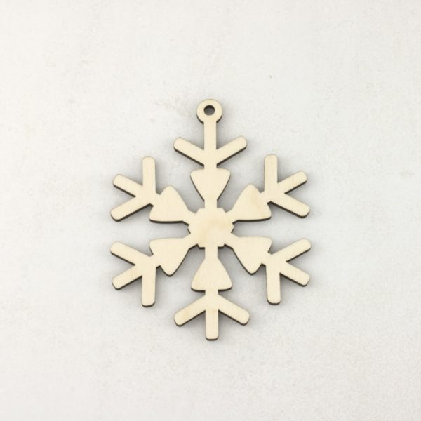 Wooden Christmas craft decorations Snowflake