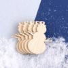 Wooden Snowmen Craft Shapes