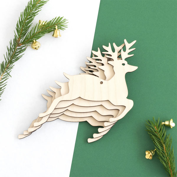 Wooden Stag Craft Shape