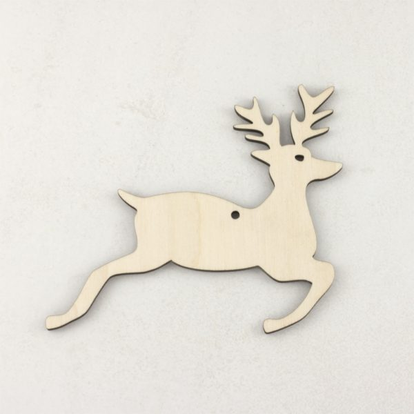 Wooden Christmas craft decorations Stag