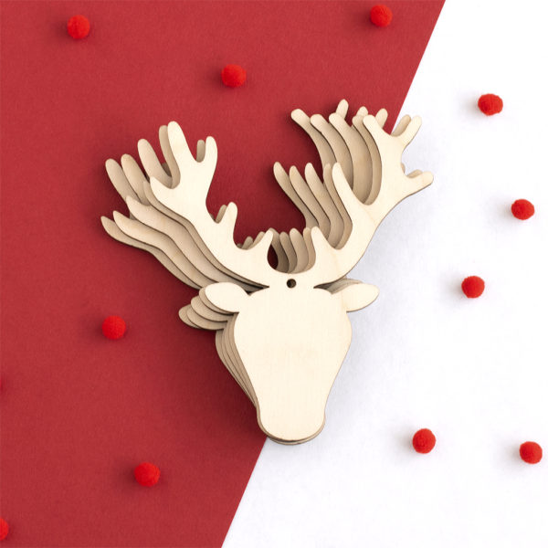Wooden Stag Head Craft Shapes