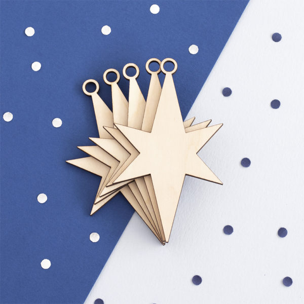 Wooden Christmas Star Craft Shape