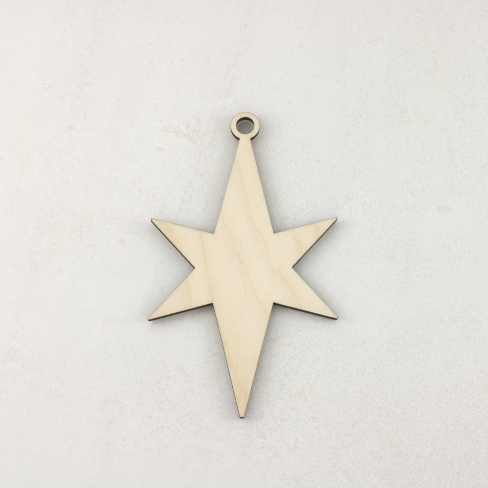 Wooden Christmas craft decorations Star