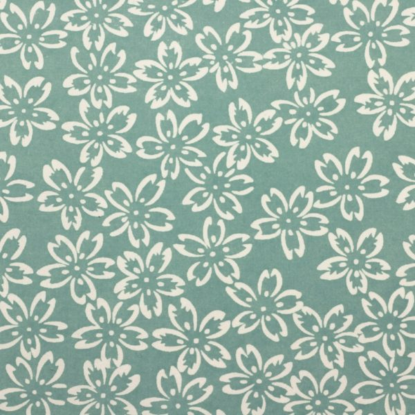 Chiyogami Paper Turquoise Petals 780c