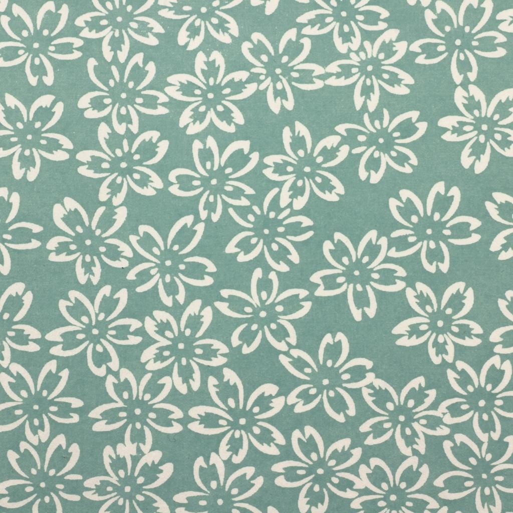 Chiyogami Paper Turquoise Petals 780c