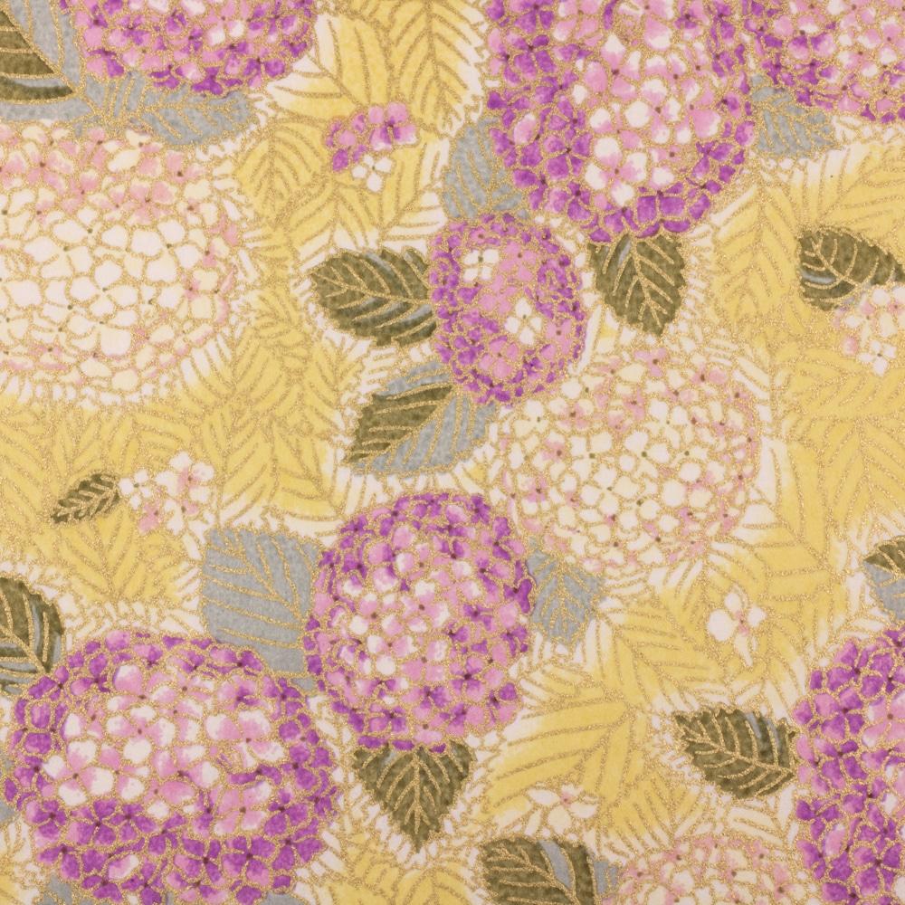 Chiyogami Paper Violet Hydrangea 989c