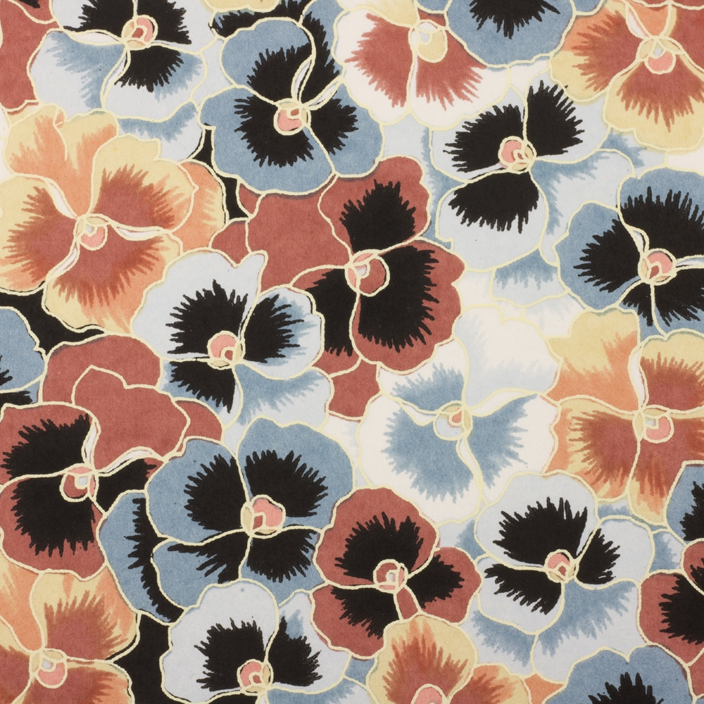 Chiyogami Paper Winter Pansies 948c