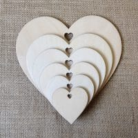 wooden blank craft hearts