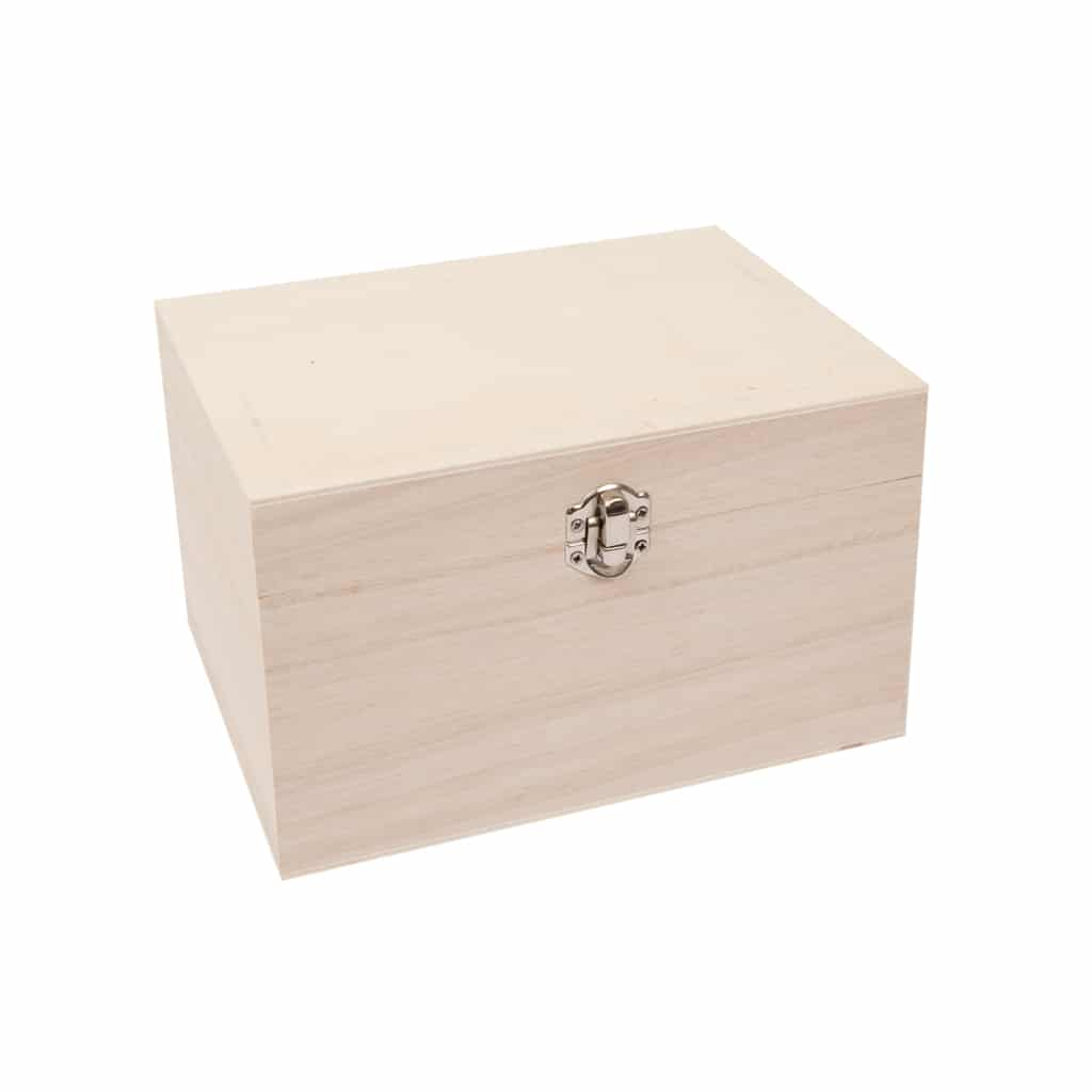 small wooden clasped box