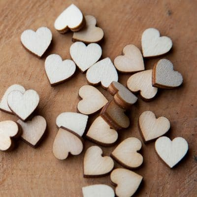 1.5cm wooden hearts