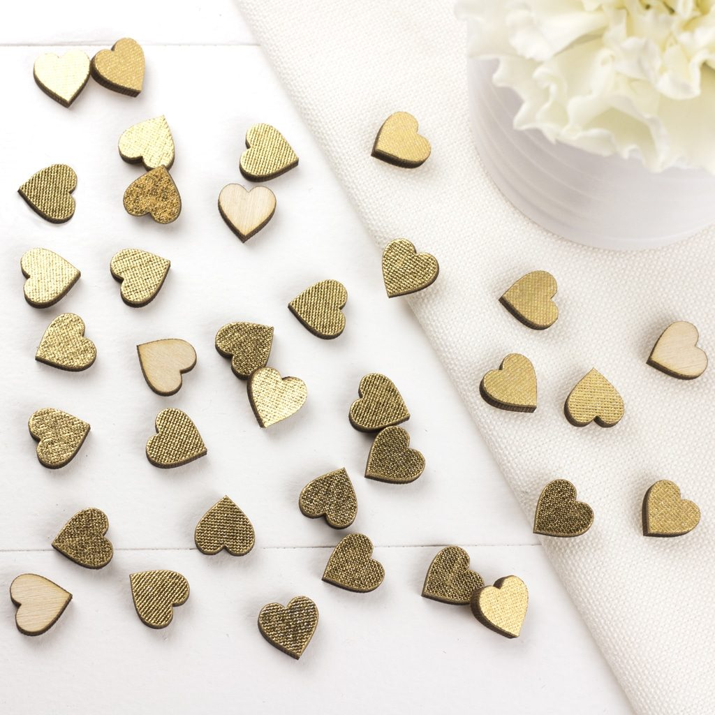1cm Gold Scatter Hearts