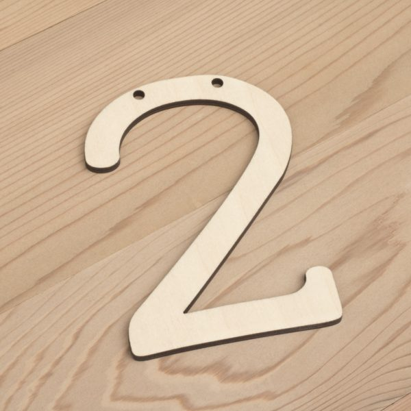 wooden number bunting 2
