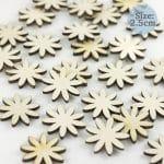 Wooden Daisy embellishments