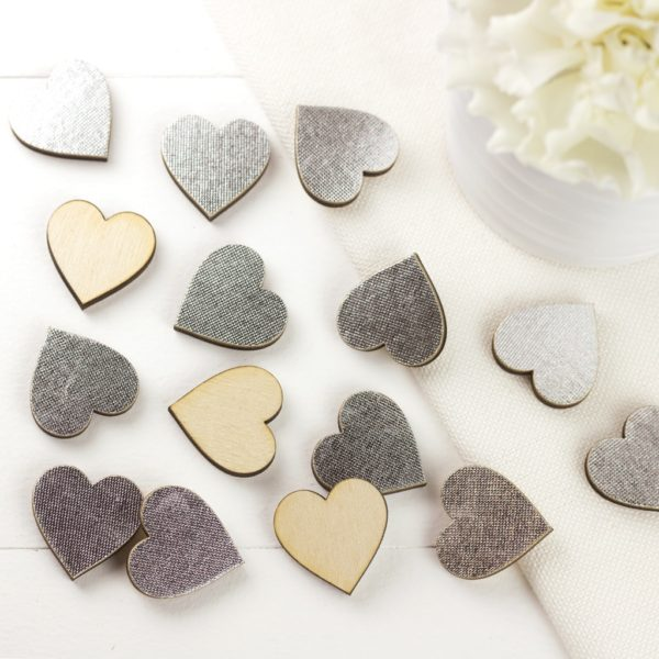 silver scatter hearts 2cm