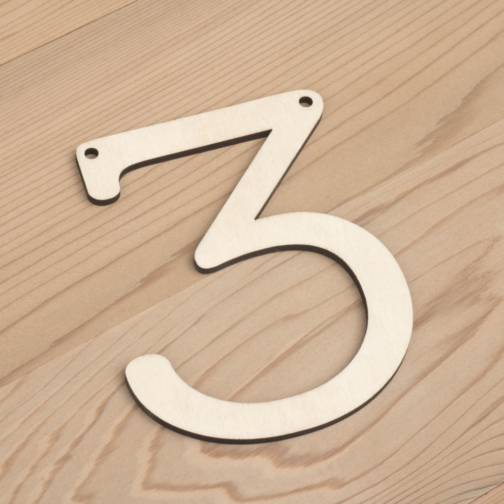 wooden number bunting 3