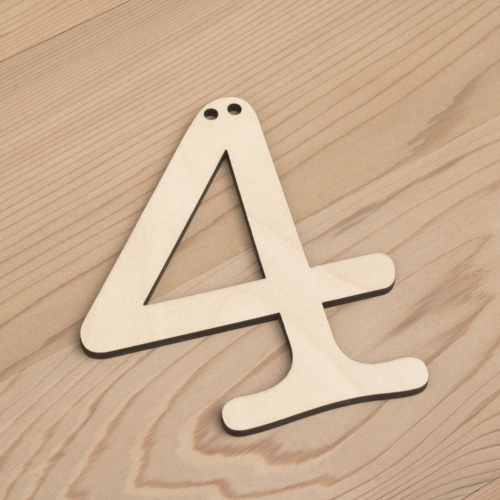 wooden number bunting 4