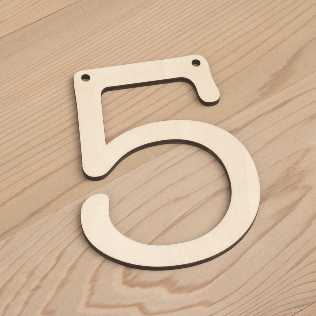 wooden number bunting 5