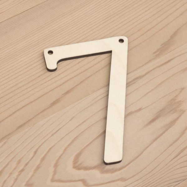wooden number bunting 7