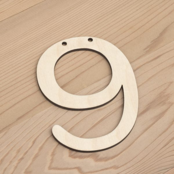 wooden number bunting 9