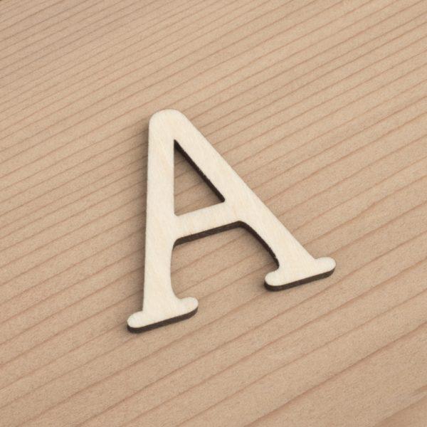 wooden 3cm alphabet letter A
