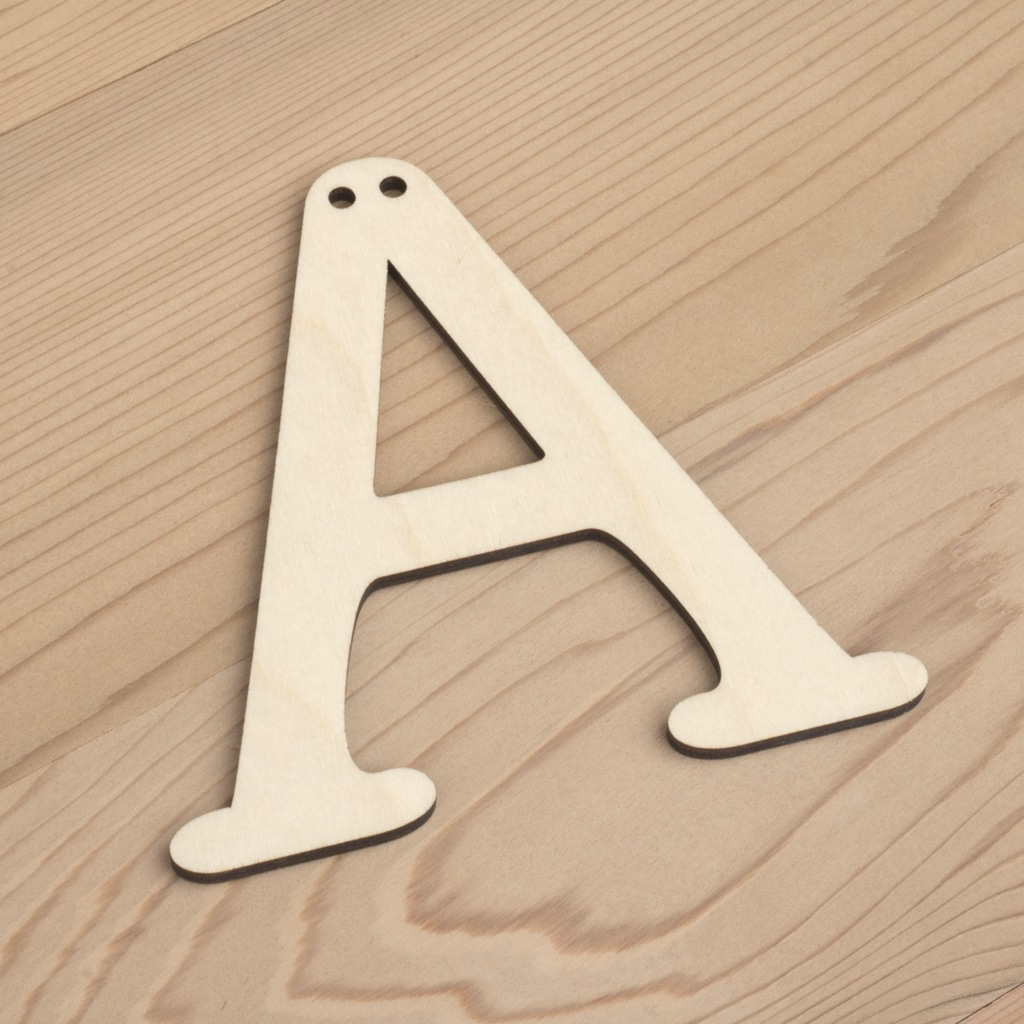 10cm alphabet bunting letter A