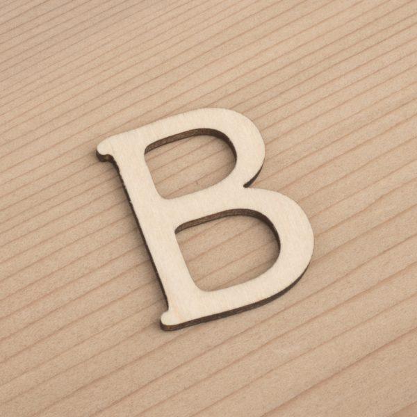 wooden 3cm alphabet letter B