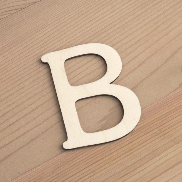 Wooden 6cm letter B