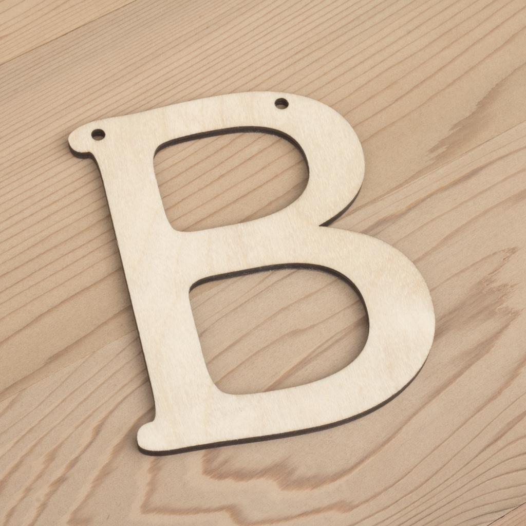10cm alphabet bunting letter B