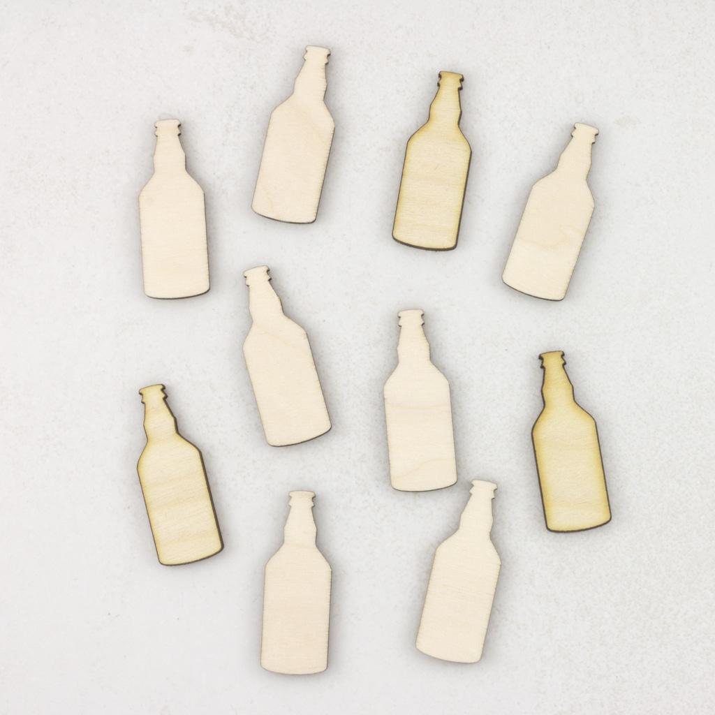 wooden beer bottles