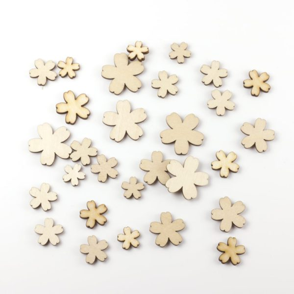 Mixed wooden blossom flowers