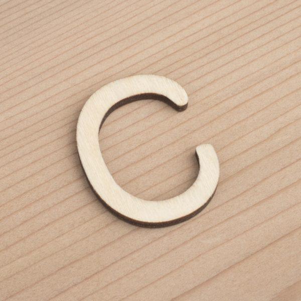 wooden 3cm alphabet letter C