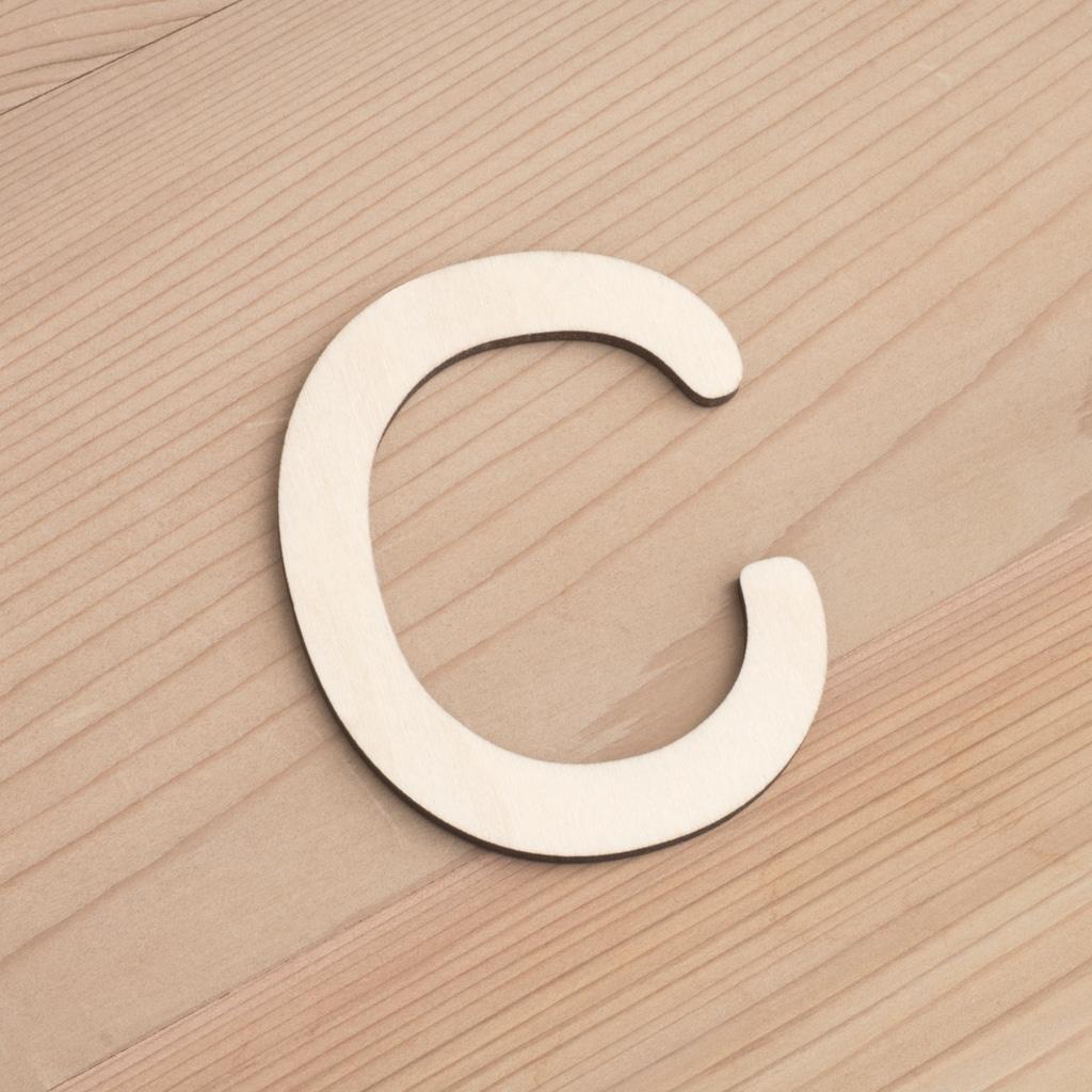 Wooden 6cm letter C
