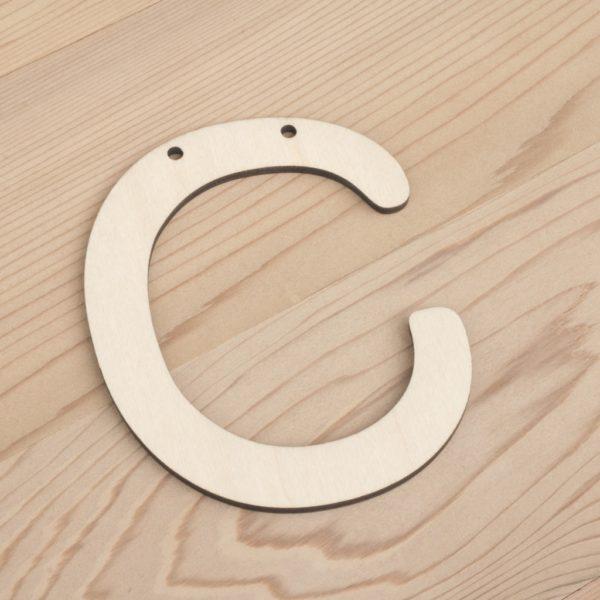10cm alphabet bunting letter C