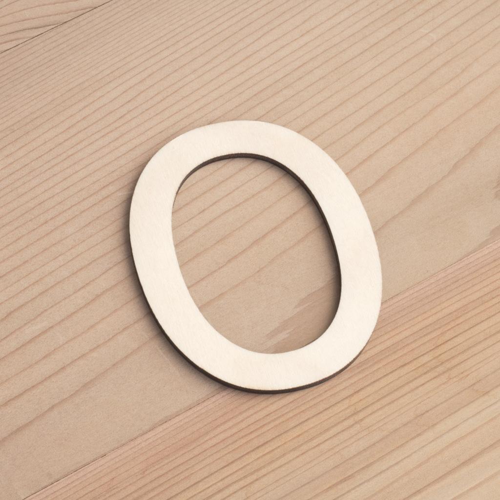 Wooden 6cm letter O