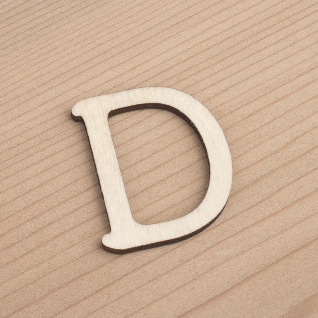 wooden 3cm alphabet letter D