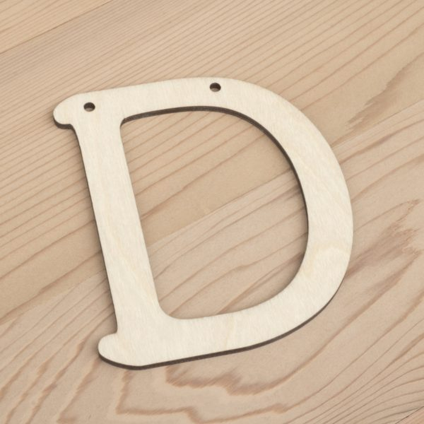 10cm alphabet bunting letter D