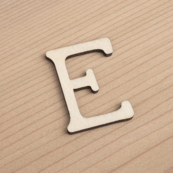 wooden 3cm alphabet letter E