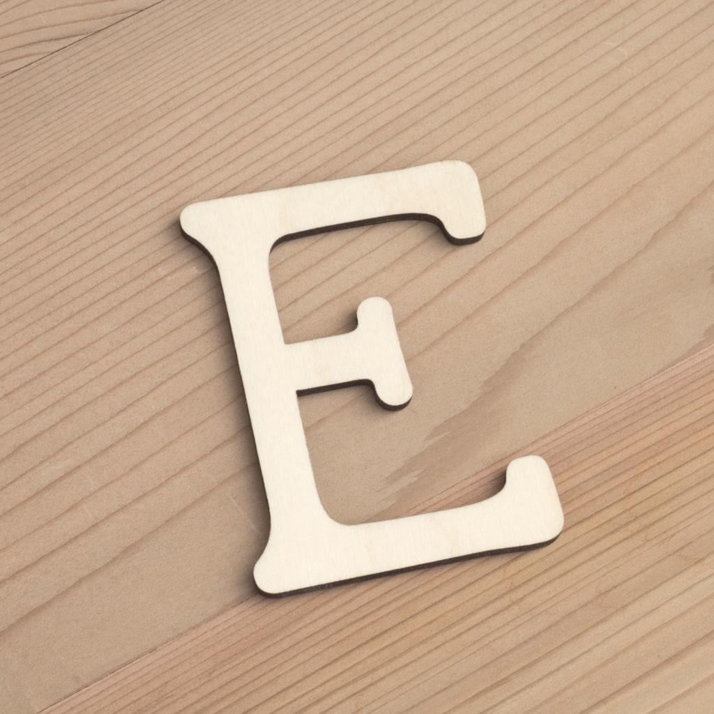 Wooden 6cm letter E