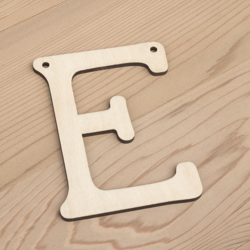 10cm alphabet bunting letter E