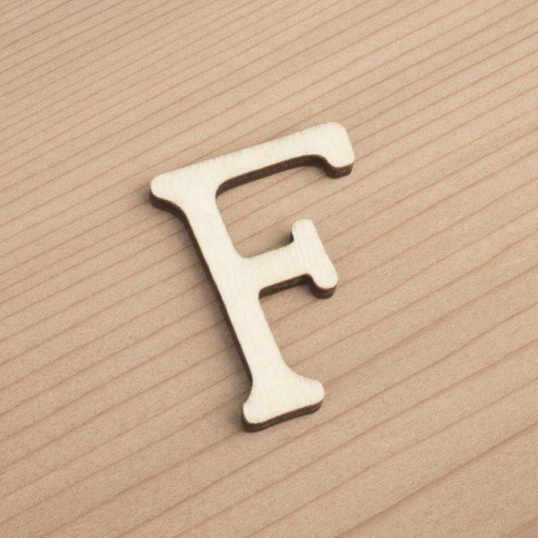 wooden 3cm alphabet letter F