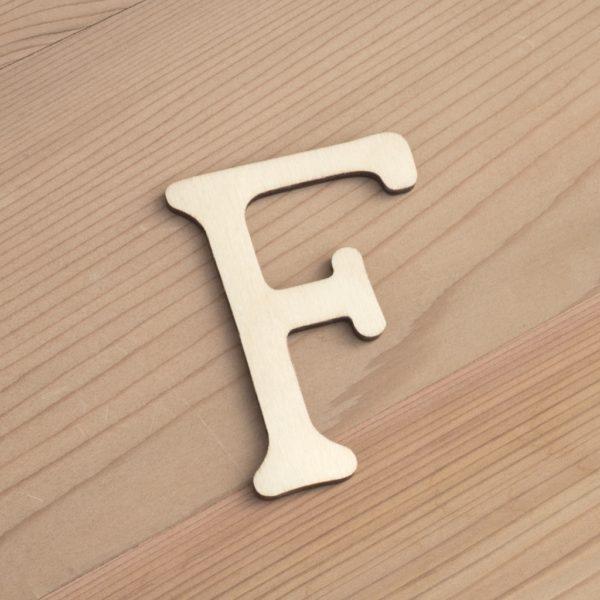 Wooden 6cm letter F