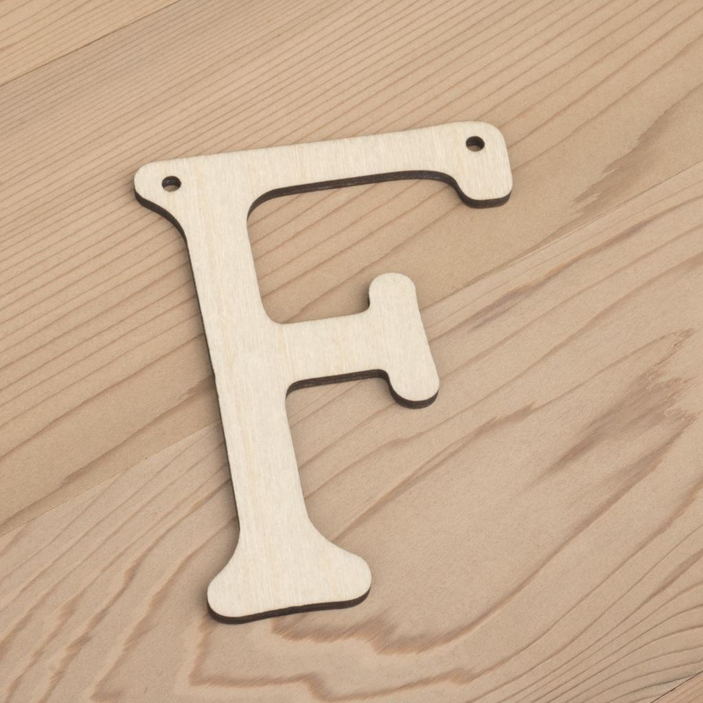 10cm alphabet bunting letter F