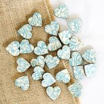 florence blue scatter hearts 2cm