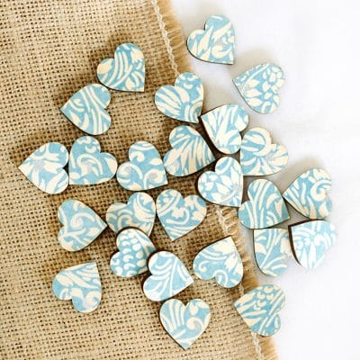 florence blue scatter hearts 2cm