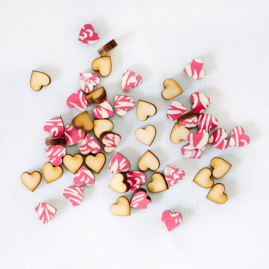 florence pink scatter hearts 1cm