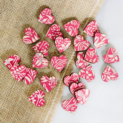 florence pink scatter hearts 2cm