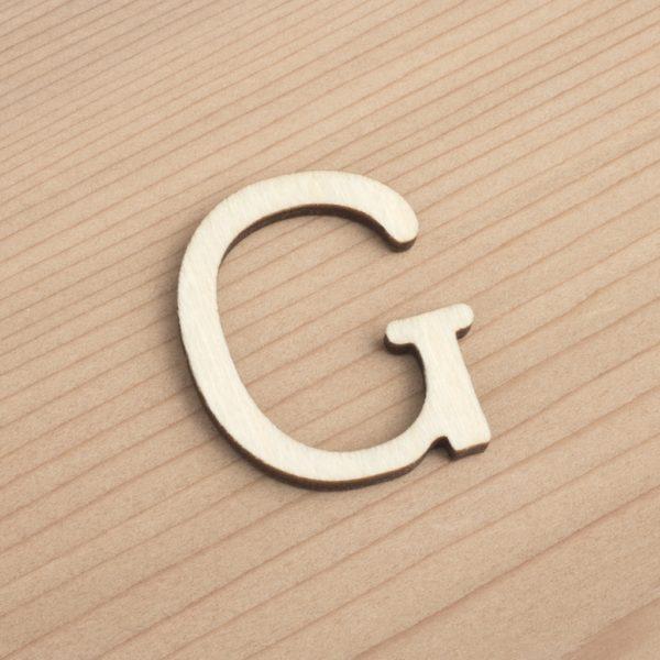 wooden 3cm alphabet letter G