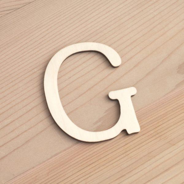 Wooden 6cm letter G